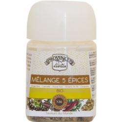 Mélange 5 Epices bio Recharge - Provence d'Antan