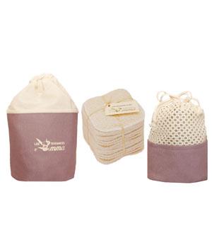 Kit Eco belle Trousse Coton bio Biface 15 carrés