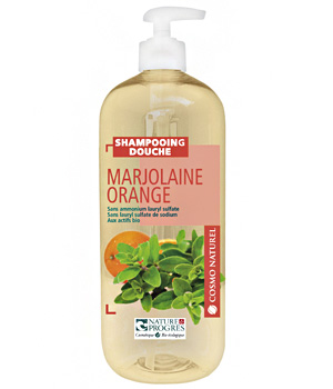 Shampooing douche Marjolaine Orange 1 litre - Cosmo Naturel