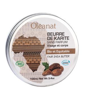 Beurre de karité extra pur sans parfum bio équitable - Oléanat