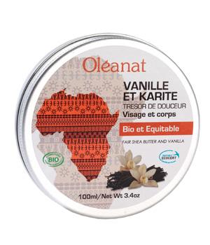 Beurre de Karité Vanille bio équitable - Oléanat