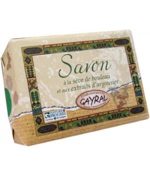 Savon à la Sève de bouleau et extraits d'Argousier - Gayral