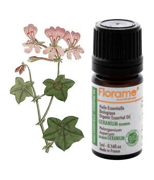 Huile essentielle bio Géranium Bourbon - Florame
