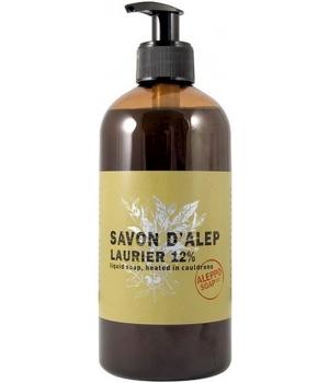 Savon d'Alep liquide Olive et Laurier 12% Laurier 500 ml avec pompe - Tadé