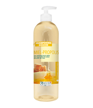 Shampooing douche Miel Propolis 500 ml - Cosmo Naturel