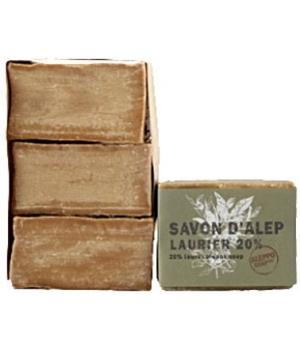 Savon d'Alep Laurier 20% Aleppo Soap Lot 3 savons - Tadé