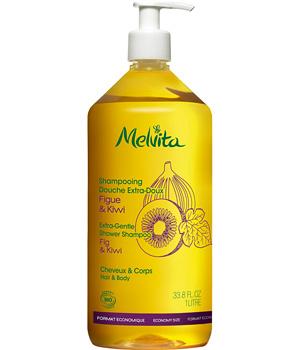 Shampooing Douche familial Extra-doux Figue et Kiwi 1 litre - Melvita