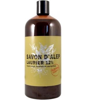 Savon d'Alep liquide Olive et Laurier 15% Laurier 1 litre - Tadé