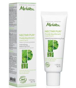 Fluide équilibrant matifiant Nectar Pur - Melvita