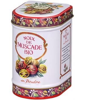 Noix de Muscade bio poudre Boîte - Provence d'Antan