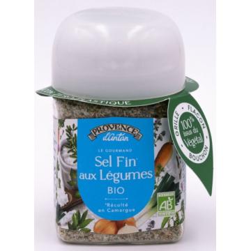 Sel fin de Camargue aux Légumes pot végétal biodégradable 90g Provence d'Antan