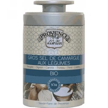 Gros sel de Camargue aux légumes bio Boîte - Provence d'Antan