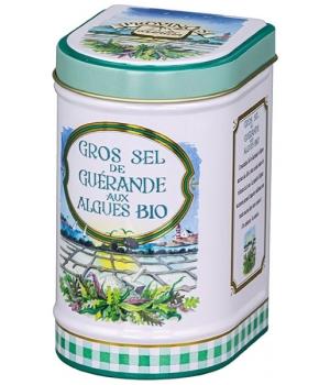 Gros sel de Guérande aux Algues bio Boîte métal 100 gr - Provence d'Antan