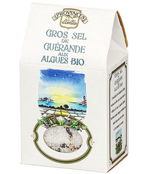 Gros sel de Guérande aux Algues bio Recharge 100 gr - Provence d'Antan
