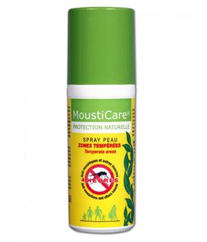 Spray peau Anti-moustiques Zones Tempérées Protection naturelle - Mousticare