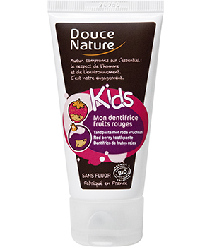 Dentifrice Fruits rouges Kids sans fluor - Douce Nature