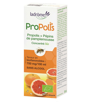 Concentré de Propolis et Pépins de Pamplemousse 50 ml - Ladrôme