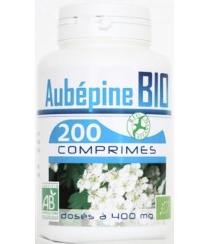 Aubépine bio 400mg 200 comprimés - GPH Diffusion
