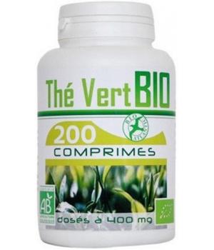 Thé Vert bio extrait aqueux 400mg 200 comprimés - GPH Diffusion