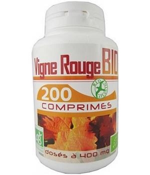 Vigne Rouge bio 400mg 200 comprimés - GPH Diffusion