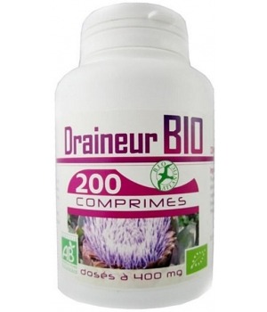 Draineur bio 400mg 200 comprimés - GPH Diffusion