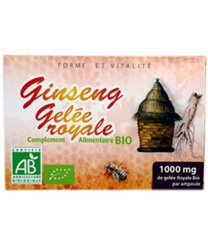 Gelée Royale + Ginseng bio 20 ampoules - GPH Diffusion