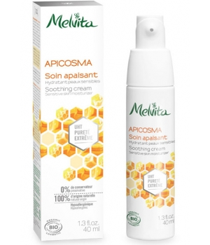 Soin apaisant UHT Hydratant Apicosma peaux sensibles - Melvita