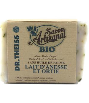 Savon artisanal bio Lait d'Anesse/Ortie - Dr.Theiss