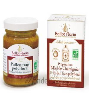 Miel de cure - Miel de chataignier & pollen frais - Ballot-Flurin