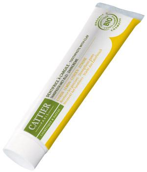 Dentifrice bio reminéralisant au Citron 75ml - Cattier