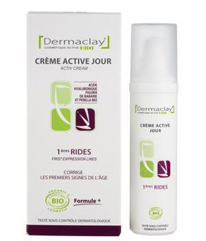 Crème Active Jour Premières rides d'expression 50ml airless Dermaclay