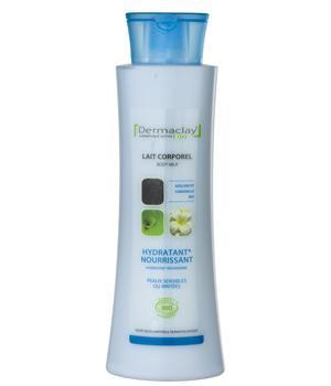 Lait corporel Hydratant Nourrissant peaux sensibles ou irritées 400ml  -Dermaclay,   Laits, Crèmes, Beurres