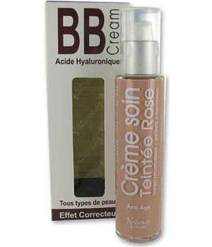 Crème teintée bio Rose acide hyaluronique 50ml - Naturado bb cream aromatic provence