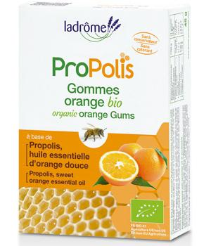 Gommes à la propolis bio saveur orange - Ladrôme