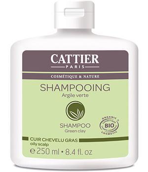 Shampooing à l'Argile verte, Cheveux gras 250ml - Cattier