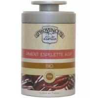 Piment d Espelette bio AOP boîte métal 40 gr - Provence d'Antan - Aromatic Provence