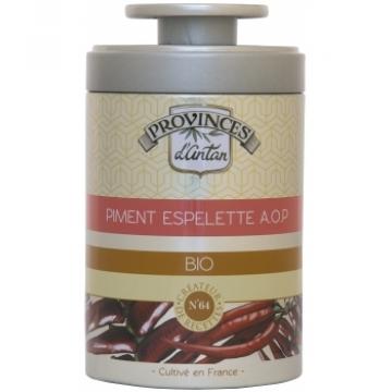 Piment d'Espelette bio A.O.P. Boîte métal 40 gr - Provence d'Antan
