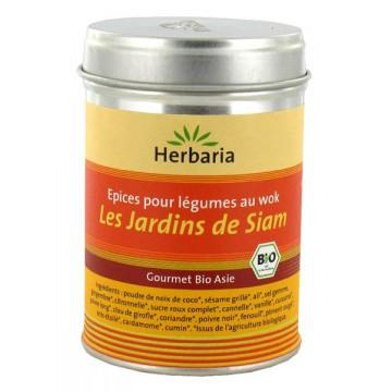 Herbaria - Les Jardins de Siam, Epices pour légumes au wok 80 gr