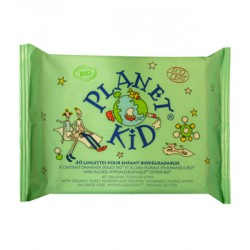 Lingettes biodégradables enfant - Planet Kid