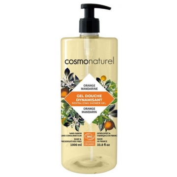 Bain douche bio Fruité Orange Mandarine  1 litre - Cosmo Naturel