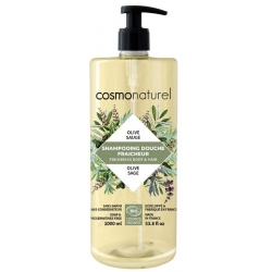 Shampooing douche Olive Sauge 1 litre - Cosmo Naturel