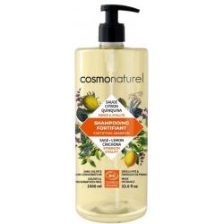 Shampooing bio Fortifiant Quinquina Sauge Citron 1 litre - Cosmo Naturel
