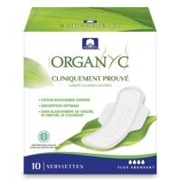 Serviettes ultra-fines Flux abondant x10 - Organyc serviettes hygieniques bio Aromatic provence
