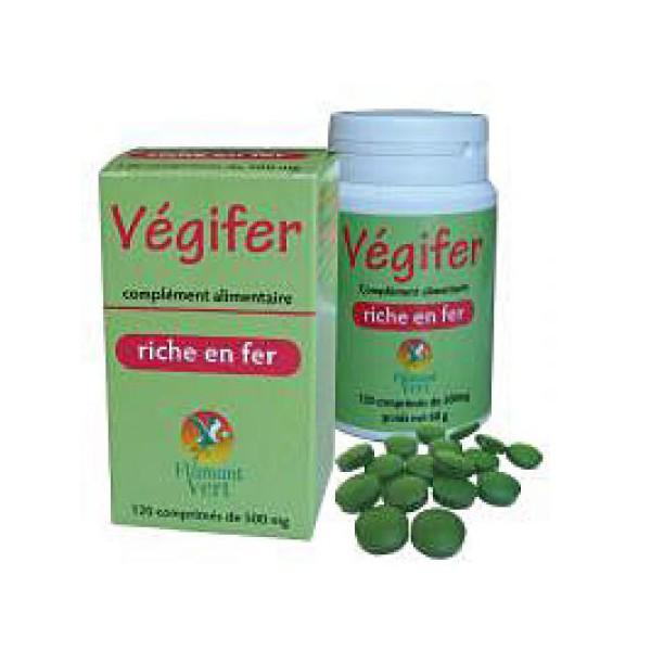 Vegifer spiruline riche en fer flamant vert vegifer 120 - Spiruline flamant vert 1000 comprimes ...