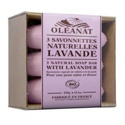 Barquette 3 savonnettes bio Lavande de Provence - Oléanat