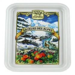 Plateau métal 1 tasse décor Village Alpin - Provence d'Antan