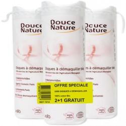 Disques à demaquiller coton bio Douce Nature - Offre 2 + 1 Gratuit
