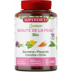 Quatuor Beauté de la Peau Bardane Pissenlit Carotte Fumeterre - Super Diet