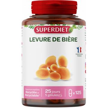 Levure de Bière revivifiable 125 gélules Super Diet