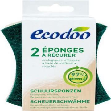 Lot de 2 Eponges à récurer en matières recyclées - Ecodoo